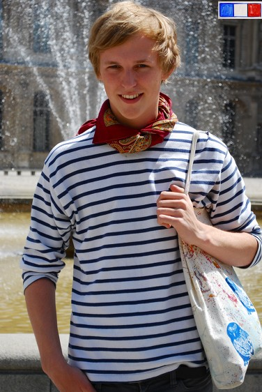 Sailor stripe shirt is paris style alexander swagger paris for French striped shirt and beret